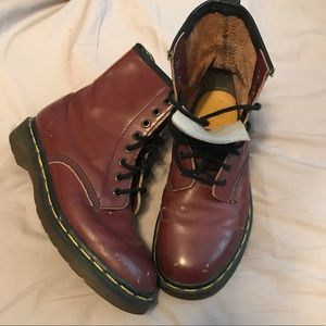 Dr Martens classic 1460 burgundy boots